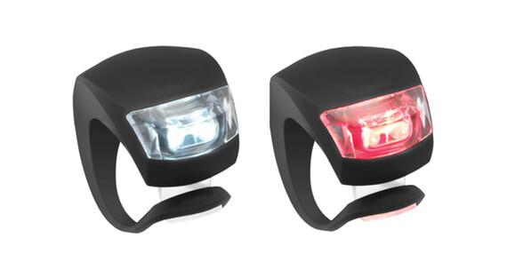 Knog Beetle - Set luces a pilas - 1 LED Twinpack, estándar negro